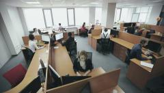 Employees of call center Stock Footage