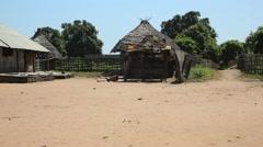 Africa native village Stock Footage