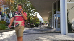 Lincoln Road Miami Beach destination Stock Footage