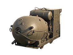 Large naval mine Stock Photos