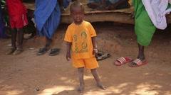west Africa native village kid - stock footage