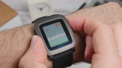 4K 4K  Game app on Smartwatch Screen Closeup Stock Footage