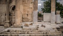 Ruins of Acropolis - stock photo