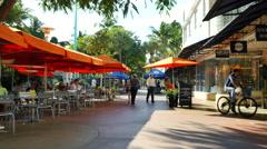 Lincoln Road Miami Beach 18 Stock Footage