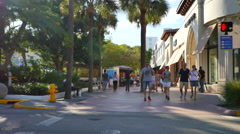 Lincoln Road Miami Beach 17 - stock footage