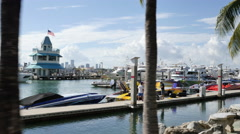 Miami Beach Marina motion video 2 Stock Footage