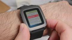 4K Smartwatch To Do List  App On Screen Closeup Stock Footage