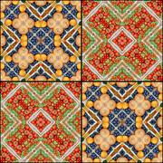 Background. A pattern from vegetables, effect of a kaleidoscope. Stock Photos