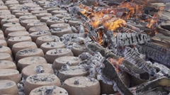 Traditional Pot Pottery Production Stock Footage
