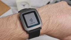 4K Voice Recognition Smartwatch On Wrist - stock footage