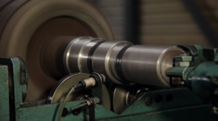 Machining metal parts on the milling machine Stock Footage