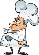 Angry Chef - stock illustration