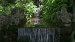 Waterfall in Rio botanical garden Stock Footage