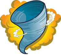 Tornado Hurricane Spout - stock illustration