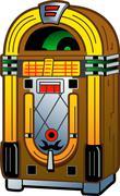Vintage Jukebox Stock Illustration