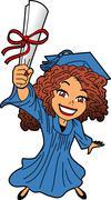 Young Woman Graduation Stock Illustration