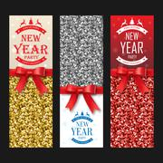 Sparkling christmas banners Stock Illustration