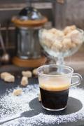 fresh coffee set - stock photo