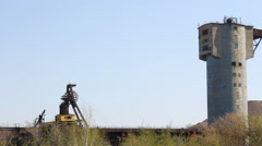 Panshot of a mining industry. Stock Footage