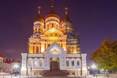 Tallinn. Alexander Nevsky Church. - stock photo