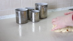 Dough for an Easter cake. Stock Footage