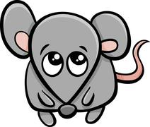 Stock Illustration of cute mouse cartoon character
