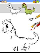 Drawing task for preschool kids Stock Illustration