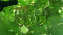 Wine Glass screen - stock illustration