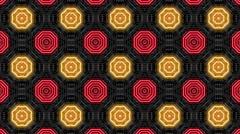 Neon Light Pattern Stock Footage