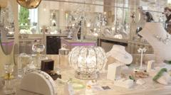 Luxury jewelry Shop. Stock Footage