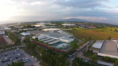 Aerial view of Industrial Estate northern thailand Stock Footage