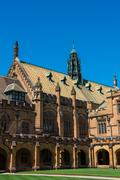Historic Quadrant Building at Sydney University Stock Photos