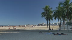 Relaxing on Copacabana beach Stock Footage