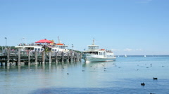 Tourist Cruiseship on Chiemsee - stock footage