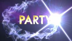 PARTY, Gold Text Animation, with Final White Transition, 4k Stock Footage