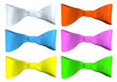 Set multi-colored bows - stock illustration