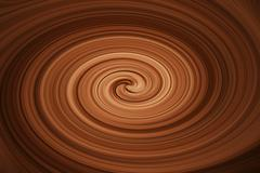 twirling brown  melted chocolate - stock illustration