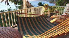 Hammock on Lanai at sunrise    ,Hawaii  Stock Footage