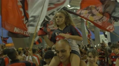Fans before a game at Maracana stadium Stock Footage