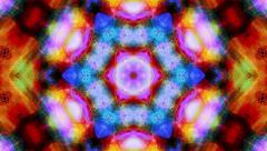Kaleidoscopic video background - Kaleido 1001 HD, 4K - stock footage