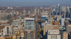High angle view of downtown Toronto, Canada. Stock Footage