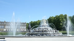 Herrenchiemsee fountain Stock Footage