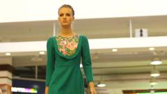 Stock Video Footage of Young girl model walking on catwalk on the fashion clothes show