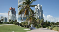 South Pointe Park Miami Beach scene 2 Stock Footage