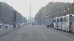 Column monument called Siegessaeule near Brandenburg Gate Berlin Stock Footage