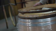 Manufacturing wine barrels-Bordeaux Vineyard Stock Footage