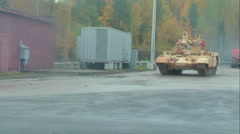 Tank Support Fighting Vehicle Terminator - stock footage