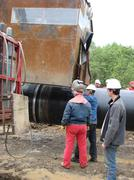 SURGUT,  NOVEMBER 11, 2008: Construction of an oil and gas pipeline. - stock photo