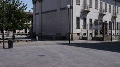 Basilica of San Lorenzo Maggiore in Milan Stock Footage