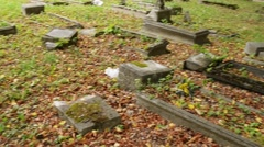Old cemetery in Barczewo, Poland Stock Footage